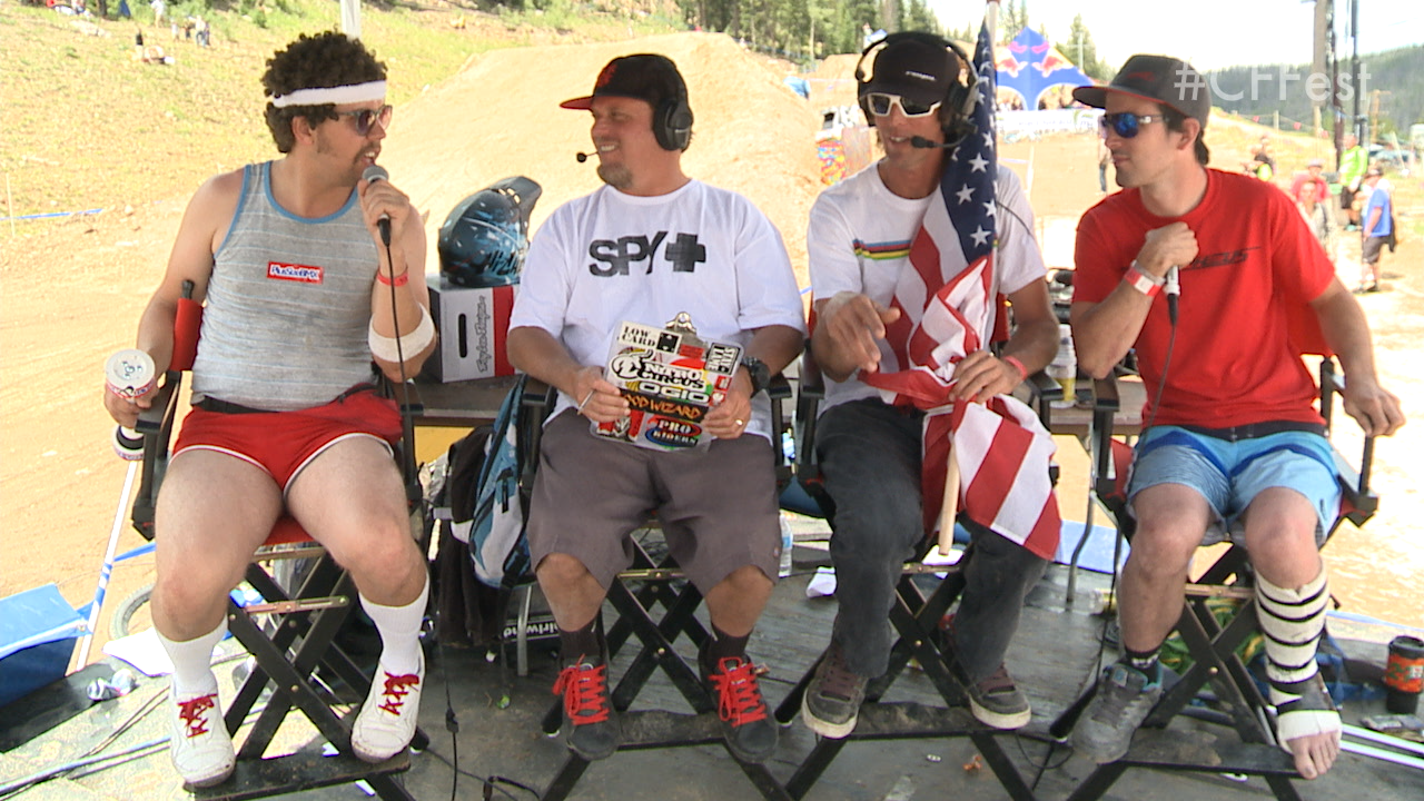 Captain Awesome makes an appearance on the Colorado Freeride Festival live webcast