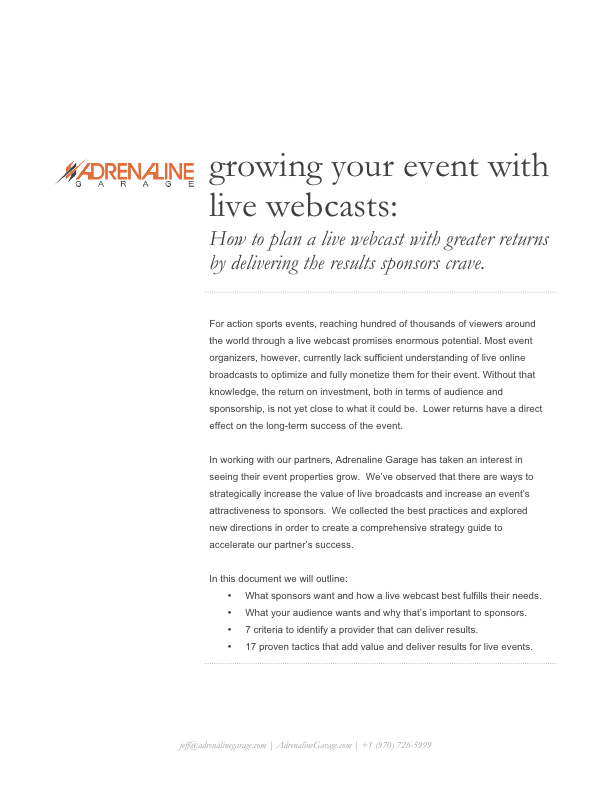 Get results from your live webcast