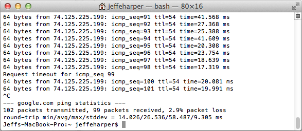 Determining Packet Loss