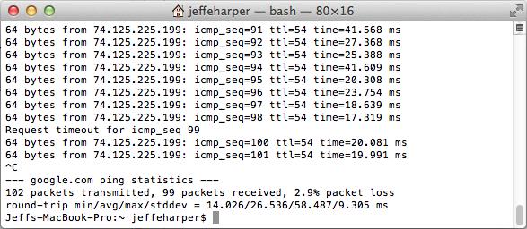 Determining Packet Loss